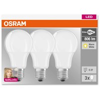 Osram  LED GLS Light Bulb - 9.5W (60W) (ES) - 3 Pack