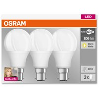 Osram  LED GLS Light Bulb - 9.5W (60W) (BC) - 3 Pack