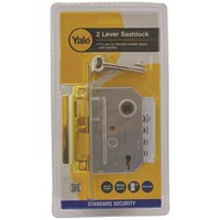 Yale  2 Lever Sash Lock - 2.5in