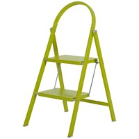Abru  2 Tread Steel Step Stool - Lime