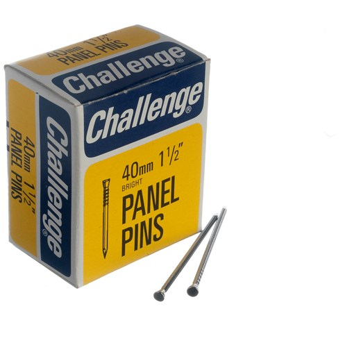 Challenge  Zinc Plated Panel Pins - 1kg Box