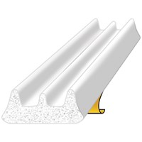 Exitex  White E Strip Draught Excluder - 5m