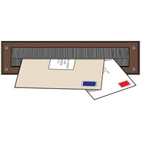 Exitex  Letterplate Seal - Brown