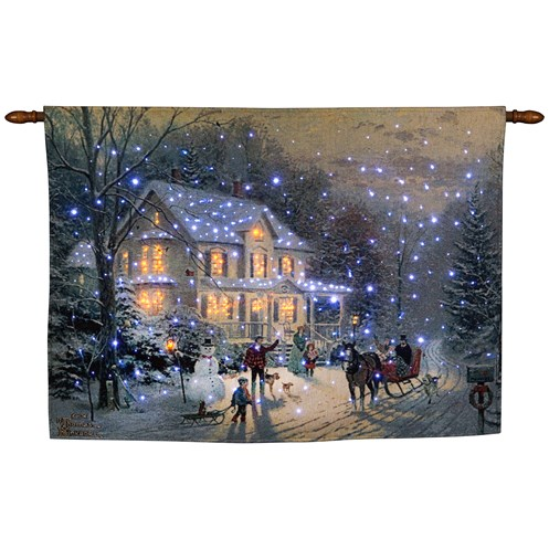 Snowtime  Fibre Optic Tapestry - Home for the Holidays