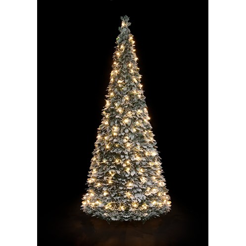 Snowtime  Holly Flock Pre-Lit Pop Up Tree - 6ft