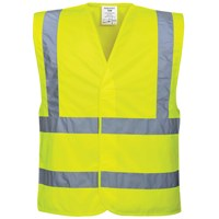 Portwest  Hi Vis Two Band & Brace Vest - Yellow