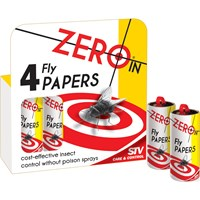 Zero In  Fly Papers - 4 pack