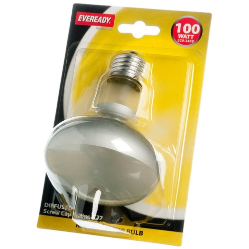 Eveready  Incandescent Reflector Light Bulb 100W R80 ES - Blister Pack