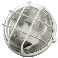 Powermaster  Round Caged Bulkhead Light White - 100W