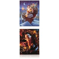 Premier Decorations  Canvas Picture - Santa's