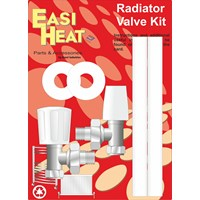 Easi Heat  Angle Pattern Standard Radiator Valve Kit - 1/2in