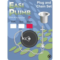 Easi Plumb  Poly Plug & Chain Set - Basin