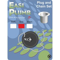 Easi Plumb  Poly Plug & Chain Set - Sink