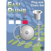 Easi Plumb  Chrome Plated Plug & Chain Set - Basin