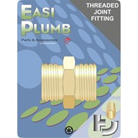 Easi Plumb  Brass Threaded Joint Hexagonal Nipple