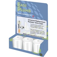 Easi Plumb  Universal White Replacement Radiator Valve Head Set - 3 Pack