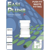 Easi Plumb  Straight Coupling for Push Fit Waste Pipe