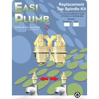 Easi Plumb  Pair of Replacement Bath Tap Spindles with Bushings - 3/4in