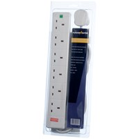 Powermaster  2m Surge Protected Extension Lead - 13 Amp 6 Gang