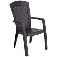 Allibert  Minnesota High Back Chair - Graphite